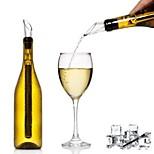 preiswerte -Weinausgießer Silica Gel / Edelstahl, Wein Zubehör Gute Qualität Kreativ for Barware Leichte Bedienung / Kreative Neuheit 1pc
