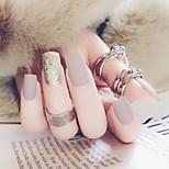 Недорогие -Полностью накладные ногти Емкости для нейл-арта и макияжа На каждый день Декоративные Легко для того чтобы снести / Удобный