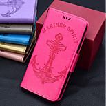 Недорогие -Кейс для Назначение Sony Xperia XZ1 / Xperia XZ2 Кошелек / Бумажник для карт / Флип Чехол Однотонный / Слова / выражения /
