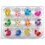 Недорогие -60 pcs Украшения для ногтей / Наборы и наборы для ногтей Стиль / Художественный Модный дизайн / Цветной На каждый день Инструмент для