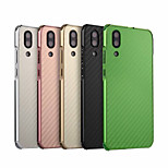 Недорогие -Кейс для Назначение Huawei P20 lite Защита от удара / Покрытие Кейс на заднюю панель Однотонный Твердый Углеродное волокно / Металл для Huawei P20 lite