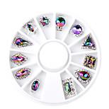 Недорогие -12 pcs Украшения для ногтей Стиль Модный дизайн На каждый день Инструмент для ногтей / Советы для ногтей