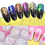 Недорогие -6 pcs Гель для ногтей Ретро Дизайн ногтей Светящийся Свадебные прием / На каждый день / фестиваль