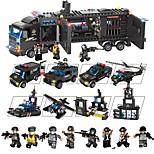 Недорогие -Конструкторы 1095 pcs Транспорт Декомпрессионные игрушки / Взаимодействие родителей и детей Подарок