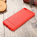 Недорогие -Кейс для Назначение Xiaomi Redmi Примечание 5A Ультратонкий Кейс на заднюю панель Однотонный Мягкий ТПУ для Redmi 5A