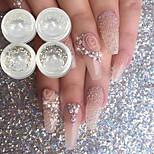 Недорогие -4 pcs Гель для ногтей металлический Светящийся Свадьба / Вечерние / На каждый день Дизайн ногтей