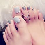 Недорогие -Полностью накладные ногти Емкости для нейл-арта и макияжа На каждый день Декоративные Легко для того чтобы снести