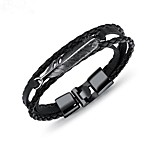 cheap -Men's Leather Bracelet - Leather Fashion Bracelet Silver / Brown / Dark Red For Gift / Daily