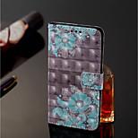 Недорогие -Кейс для Назначение Xiaomi Redmi Note 5 Pro / Xiaomi Mi Mix 2S Кошелек / Бумажник для карт / со стендом Чехол Цветы Твердый Кожа PU для Xiaomi Redmi Note 5 Pro / Xiaomi Mi Mix 2S