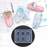 Недорогие -1 pcs Украшения для ногтей / Инструмент для штамповки ногтей шаблон Инструмент для ногтей / Дизайн ногтей Модный дизайн Простой стиль На каждый день