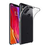 Недорогие -Кейс для Назначение Xiaomi Mi 8 / Mi 8 SE Прозрачный Кейс на заднюю панель Однотонный Мягкий ТПУ для Xiaomi Mi Mix 2 / Xiaomi Mi Mix 2S / Xiaomi Mi Mix