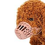 Недорогие -Собаки / Коты / Маленькие зверьки Намордники Тренировки Однотонный Пластик Розовый