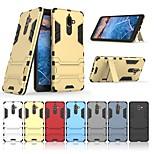 Недорогие -Кейс для Назначение Nokia Nokia 7 Plus со стендом Кейс на заднюю панель Однотонный Твердый ПК для Nokia 7 Plus