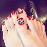 Недорогие -Набор / Полностью накладные ногти Емкости для нейл-арта и макияжа Повседневные Декоративные / Мода Глянцевый / Классический