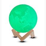 Недорогие -1шт LED Night Light / 3D ночной свет / Умный ночной свет Холодный белый / Синий / Зеленый Перезаряжаемый <5 V