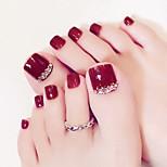 Недорогие -Полностью накладные ногти Емкости для нейл-арта и макияжа На каждый день Классика Легко для того чтобы снести / Удобный / Многофункциональный