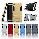 Недорогие -Кейс для Назначение Sony Xperia Z5 Premium со стендом Кейс на заднюю панель Однотонный Твердый ПК для Sony Xperia Z5 Premium