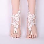 Недорогие -Украшения на ноги - Кружево Цветы Классика, Мода Белый Назначение Свадьба / Бикини / Жен.