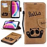 Недорогие -Кейс для Назначение Huawei P20 lite Кошелек / Бумажник для карт / со стендом Чехол Панда Твердый Кожа PU для Huawei P20 lite