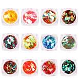 Недорогие -12 pcs Украшения для ногтей блестит / Пайетки Формы для ногтей Модный дизайн / обожаемый Повседневные