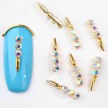 Недорогие -10 pcs Инкрустация камнями и кристаллами Украшения для ногтей Модный дизайн Дизайн ногтей