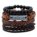cheap -Men's Leather Bracelet / Bracelet - Leather Vintage, Fashion, Statement Bracelet Brown For Holiday / Going out
