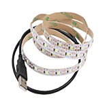 Недорогие -1m Гибкие светодиодные ленты 60 светодиоды Тёплый белый / Белый Можно резать / USB / Декоративная Работает от USB 1шт