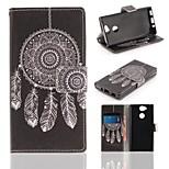 Недорогие -Кейс для Назначение Sony Xperia XA2 Кошелек / Бумажник для карт / со стендом Чехол Ловец снов Твердый Кожа PU для Xperia XA2