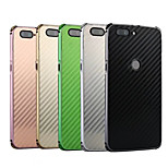 Недорогие -Кейс для Назначение OnePlus OnePlus 5T Защита от удара / Покрытие Кейс на заднюю панель Однотонный Твердый Углеродное волокно / Металл для OnePlus 5T