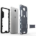 Недорогие -Кейс для Назначение Nokia Lumia 650 со стендом Кейс на заднюю панель Однотонный Твердый ПК для Nokia Lumia 650