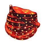 Недорогие -1m Гибкие светодиодные ленты 60 светодиоды Красный / Синий Можно резать / Декоративная / Самоклеющиеся Аккумуляторы 1шт