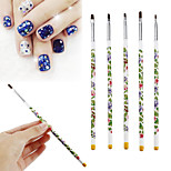 Недорогие -5 маникюр Кисточка для ногтей Ретро Цветной На каждый день / фестиваль Инструмент для ногтей