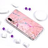 Недорогие -Кейс для Назначение Huawei P20 Pro / P20 lite Покрытие / IMD / С узором Кейс на заднюю панель Мрамор Мягкий ТПУ для Huawei P20 / Huawei P20 Pro / Huawei P20 lite