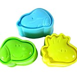 Недорогие -Инструменты для выпечки пластик Очаровательный / Своими руками Печенье / Для Райс / конфеты Формы для пирожных / Десертные инструменты 3шт