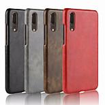 Недорогие -Кейс для Назначение Huawei P20 / P20 Pro Рельефный Кейс на заднюю панель Однотонный Твердый Кожа PU для Huawei P20 / Huawei P20 Pro /