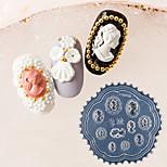 Недорогие -1 pcs Инструмент для штамповки ногтей шаблон Ретро / Элегантный стиль Дизайн ногтей Модный дизайн На каждый день