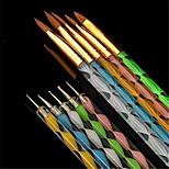 Недорогие -10 шт. маникюр Инструменты для ногтей / Пена для ногтей Профессиональный / Универсальная Модный дизайн / Разные цвета / обожаемый Свадьба / Вечерние / Повседневные