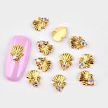 Недорогие -10 pcs металлический / Инкрустация камнями и кристаллами Украшения для ногтей Модный дизайн Дизайн ногтей