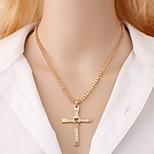 cheap -Men's Pendant Necklace  -  Cross, Faith Rock, Korean Gold, Silver 48 cm Necklace 1pc For Daily