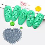 Недорогие -1 pcs Инструмент для штамповки ногтей шаблон С цветами / Профессиональный Инструмент для ногтей Модный дизайн На каждый день