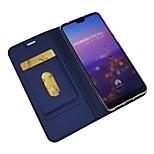 Недорогие -Кейс для Назначение Huawei P20 Pro / P20 lite Кошелек / Бумажник для карт / Флип Чехол Однотонный Твердый Кожа PU для Huawei P20 / Huawei P20 Pro / Huawei P20 lite