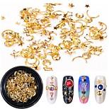 Недорогие -1 pcs Украшения для ногтей Роскошь / Bling Bling Модный дизайн / Цветной На каждый день Формы для ногтей