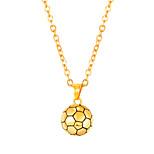 Недорогие -Муж. Длиные Ожерелья с подвесками - Нержавеющая сталь Шарообразные Мода Золотой, Черный, Серебряный 55 cm Ожерелье 1шт Назначение Подарок, Повседневные