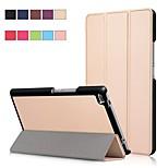 Недорогие -Кейс для Назначение Lenovo Tab 4 8 со стендом / Магнитный Чехол Однотонный Твердый Кожа PU для Lenovo Tab 4 8