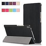 Недорогие -Кейс для Назначение Lenovo Tab 4 8 Plus / Tab 4 8 со стендом / Магнитный Чехол Однотонный Твердый Кожа PU для Lenovo Tab 4 8 Plus / Lenovo Tab 4 8