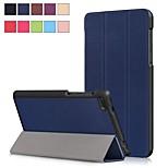 Недорогие -Кейс для Назначение Lenovo Lenovo Tab 4 7 Essential со стендом / Магнитный Чехол Однотонный Твердый Кожа PU для Lenovo Tab 4 7 Essential
