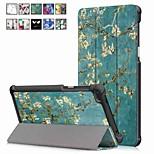 Недорогие -Кейс для Назначение Lenovo Tab 7 со стендом / Магнитный Чехол Масляный рисунок Твердый Кожа PU для Lenovo Tab 7