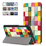 Недорогие -Кейс для Назначение Lenovo Tab 7 Essential со стендом / Магнитный Чехол Масляный рисунок Твердый Кожа PU для Lenovo Tab 4 7 Essential
