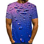 abordables -Homme T-shirt Impression 3D Graphique Bière Grandes Tailles Plissé Imprimé Manches Courtes Quotidien Hauts Chic de Rue Exagéré Arc-en-ciel