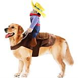 economico -Prodotti per cani Completi Vestiti del cucciolo A quadri Vacanze Divertente Natale Inverno Abbigliamento per cani Vestiti del cucciolo Abiti per cani Blu Costume per ragazza e ragazzo cane Poliestere
